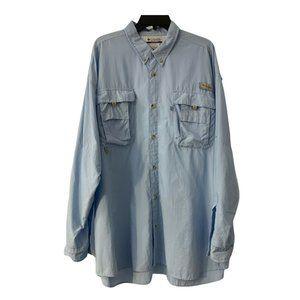 Columbia PFG Button Up Shirt Men's 2XL Long Sleeve